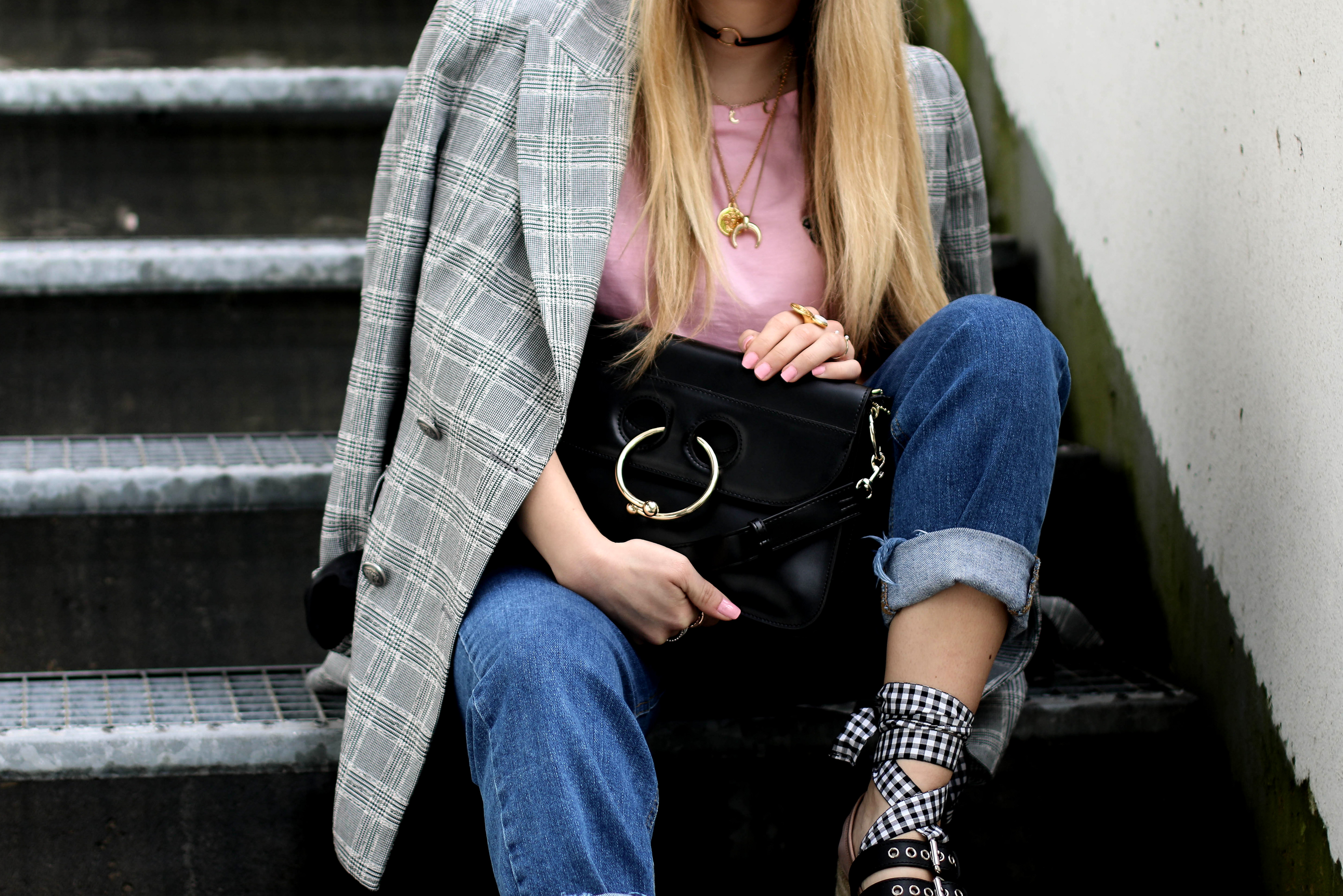 miu miu platforms miu miu shoes ftw the shop bag fashion blog zara checked blazer