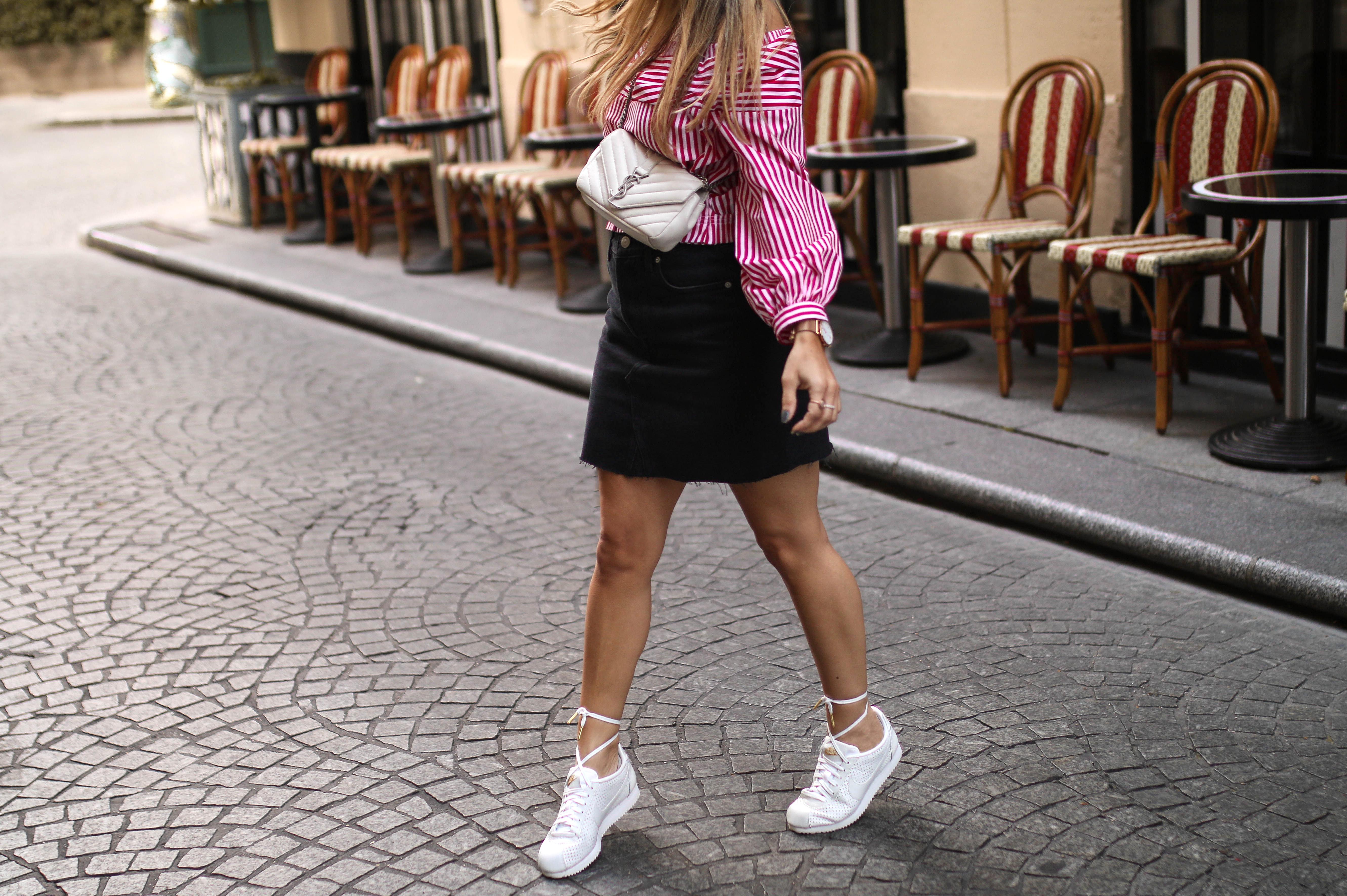 nike cortez sneaker streetstyle saint laurent ysl monogramme bag fashion blog outfit inspo pinterest