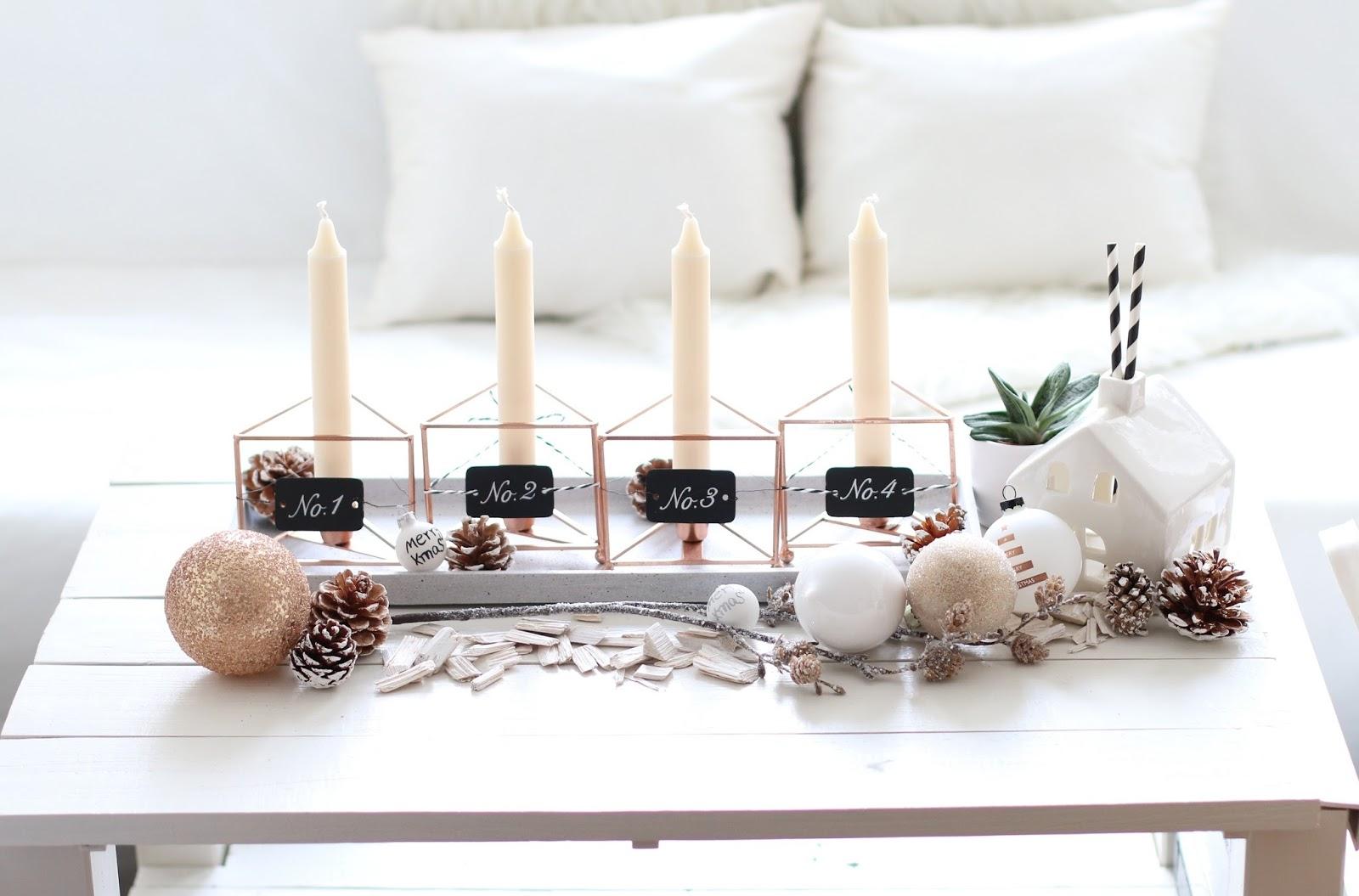 diy moderner adventskranz fashiontwinstinct by su. Black Bedroom Furniture Sets. Home Design Ideas