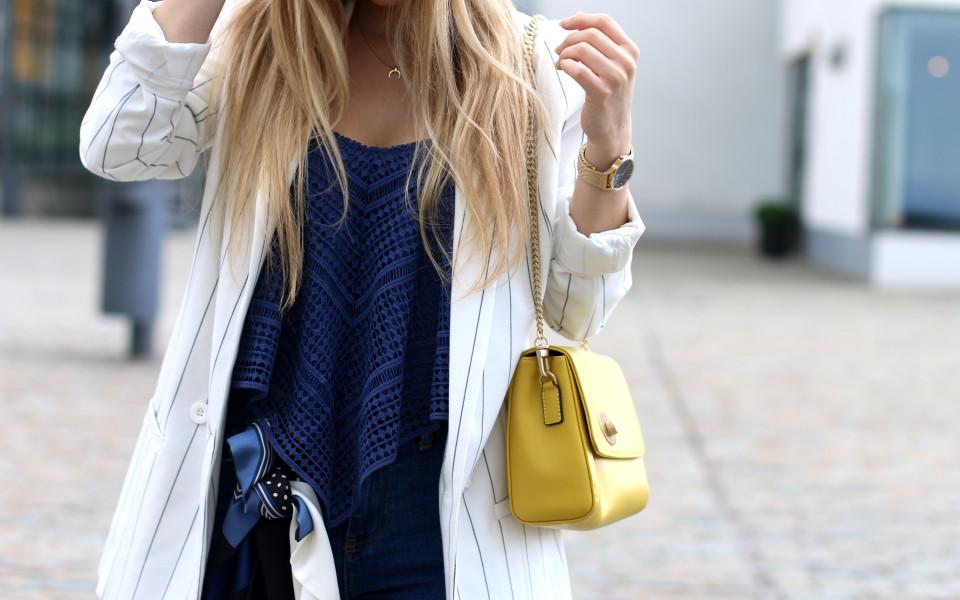 aef8fea169 Striped Blazer x Le Tanneur. • Fashiontwinstinct