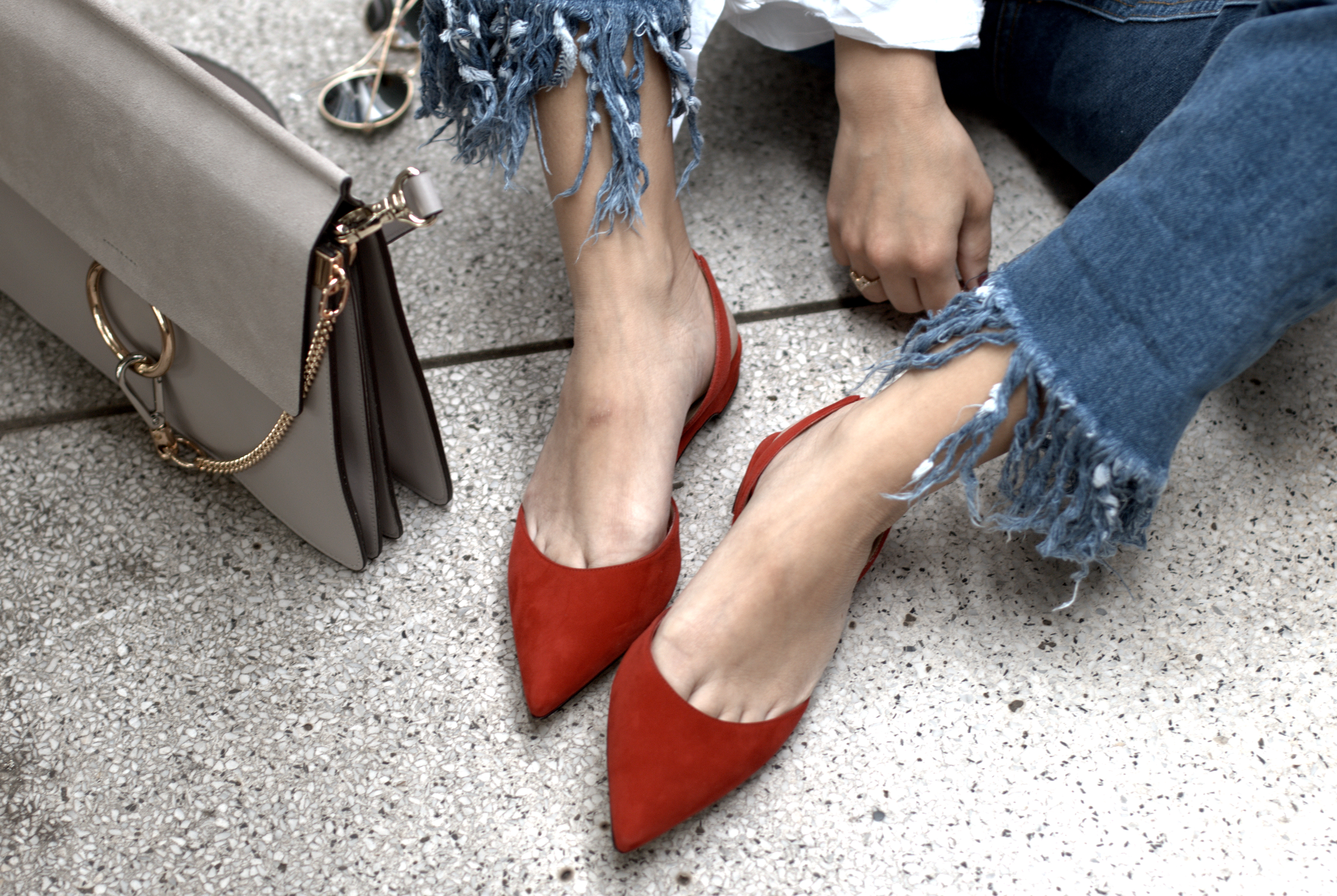 paul andrew red slingback flats slingbacks avenue32
