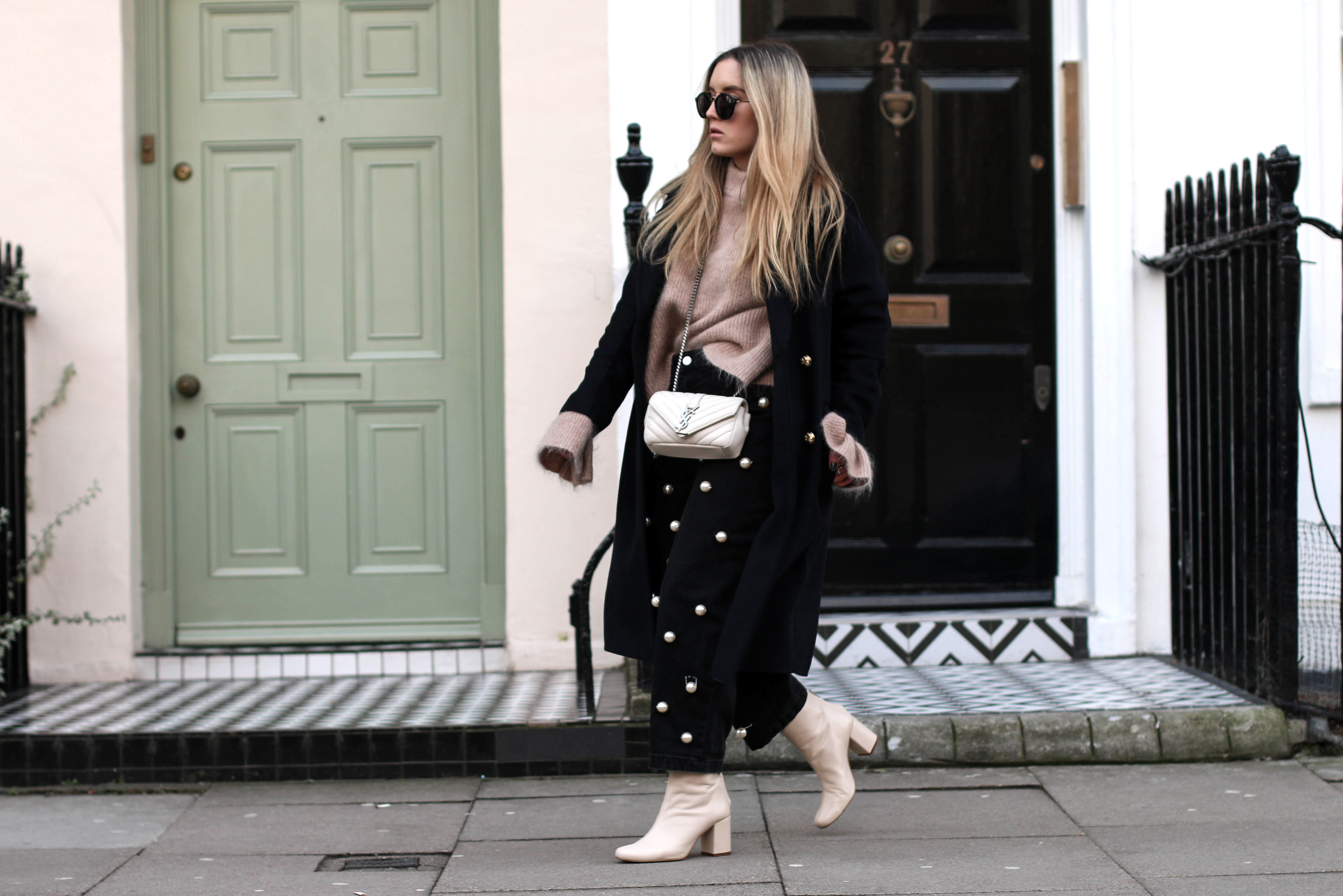 Pearl Embellished pants London Streetstyle