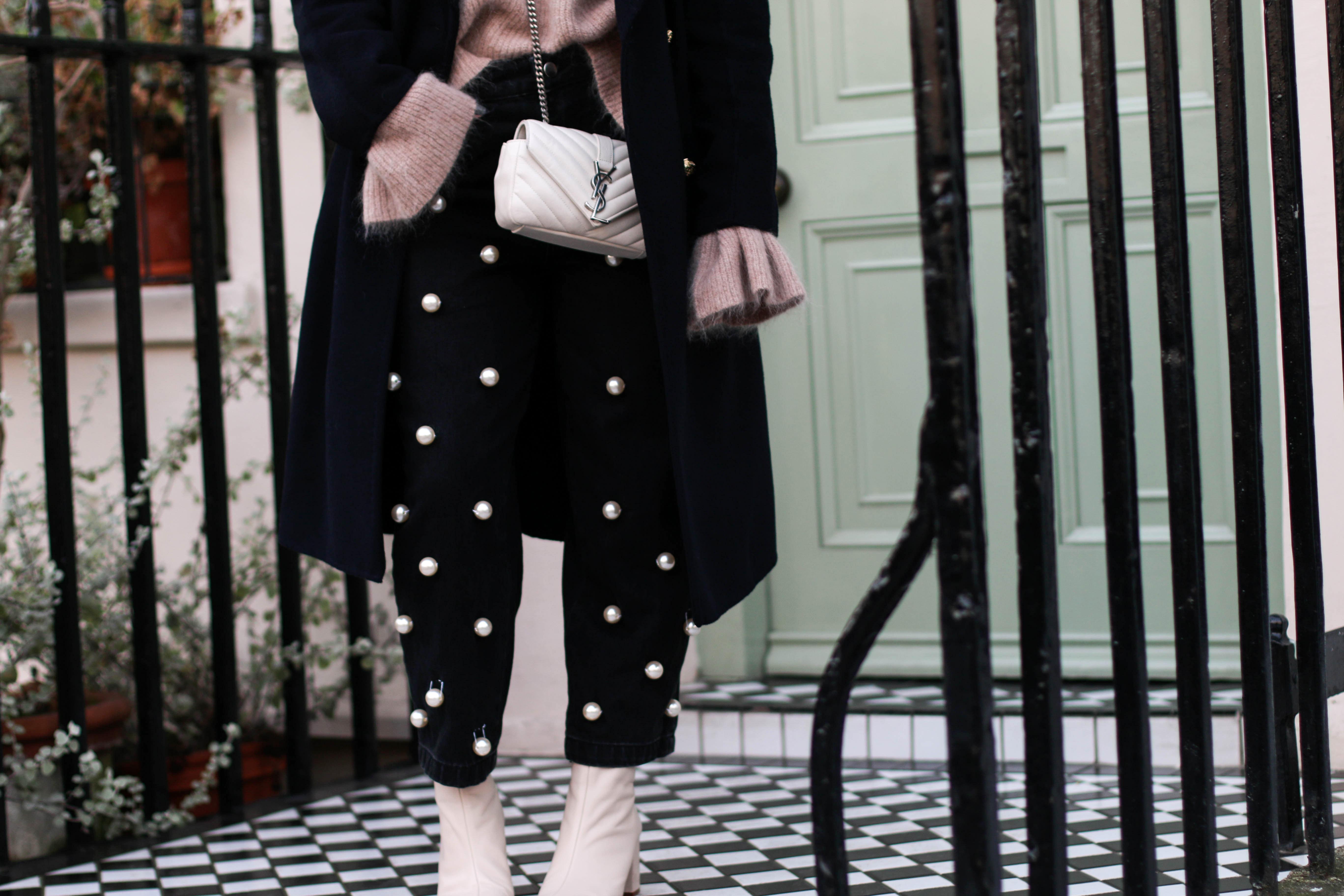 Pearl Pants London Streetstyle YSL Monogramme Bag