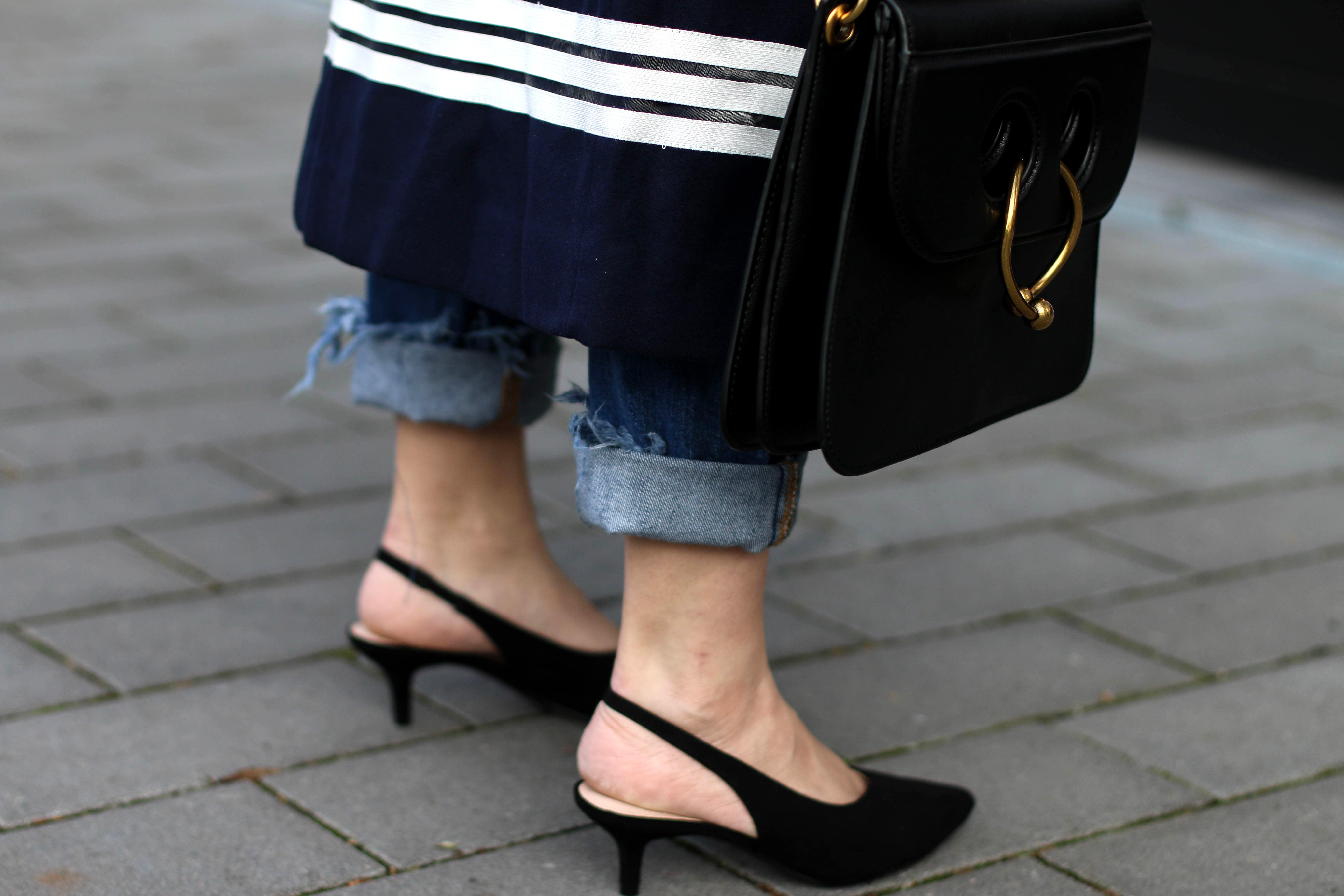 Sheinside Maxi Coat Streetstyle Slingback pumps JW Anderson Bag