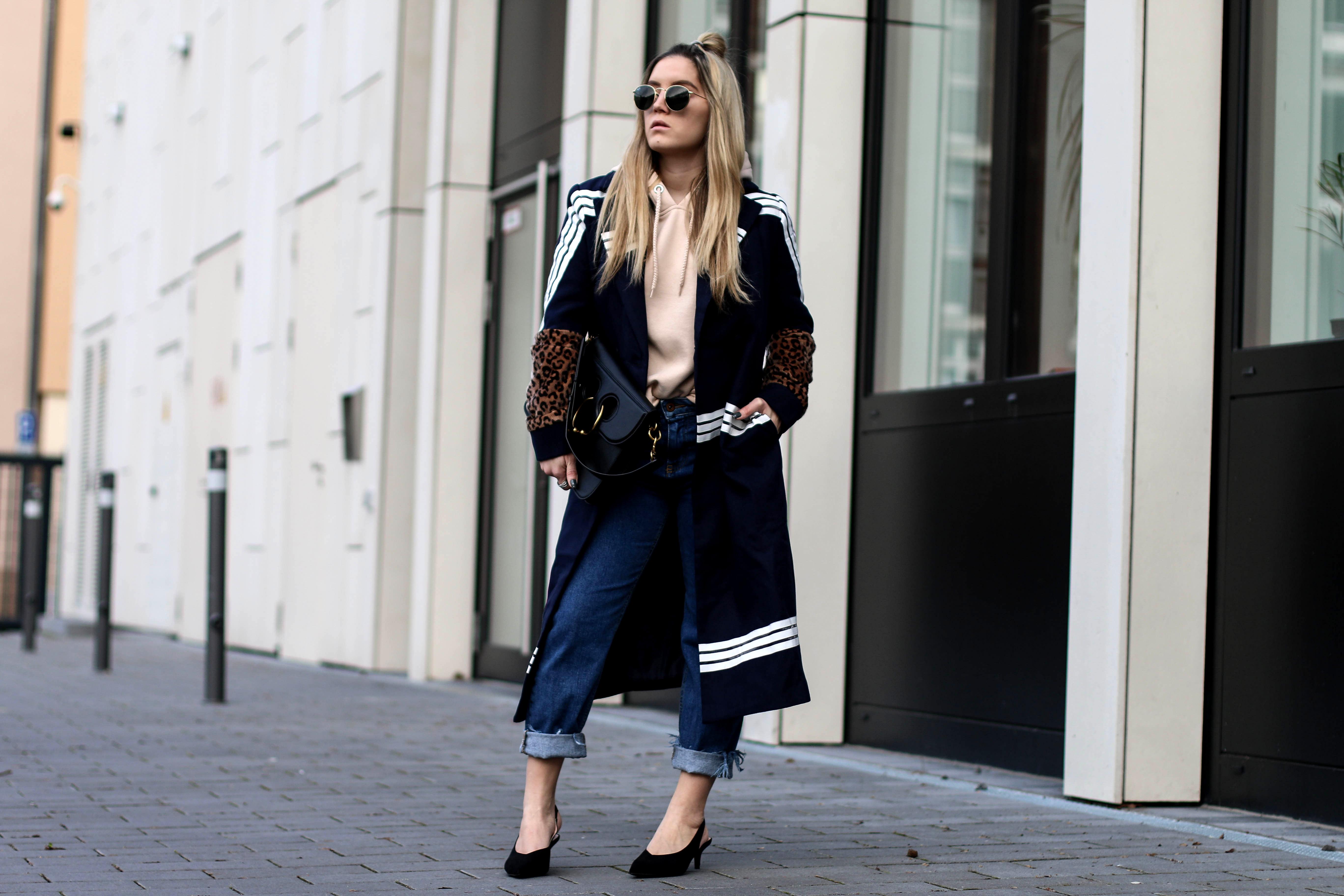 Sheinside Maxi Coat Streetstyle Pink Hoodie JW Anderson Bag