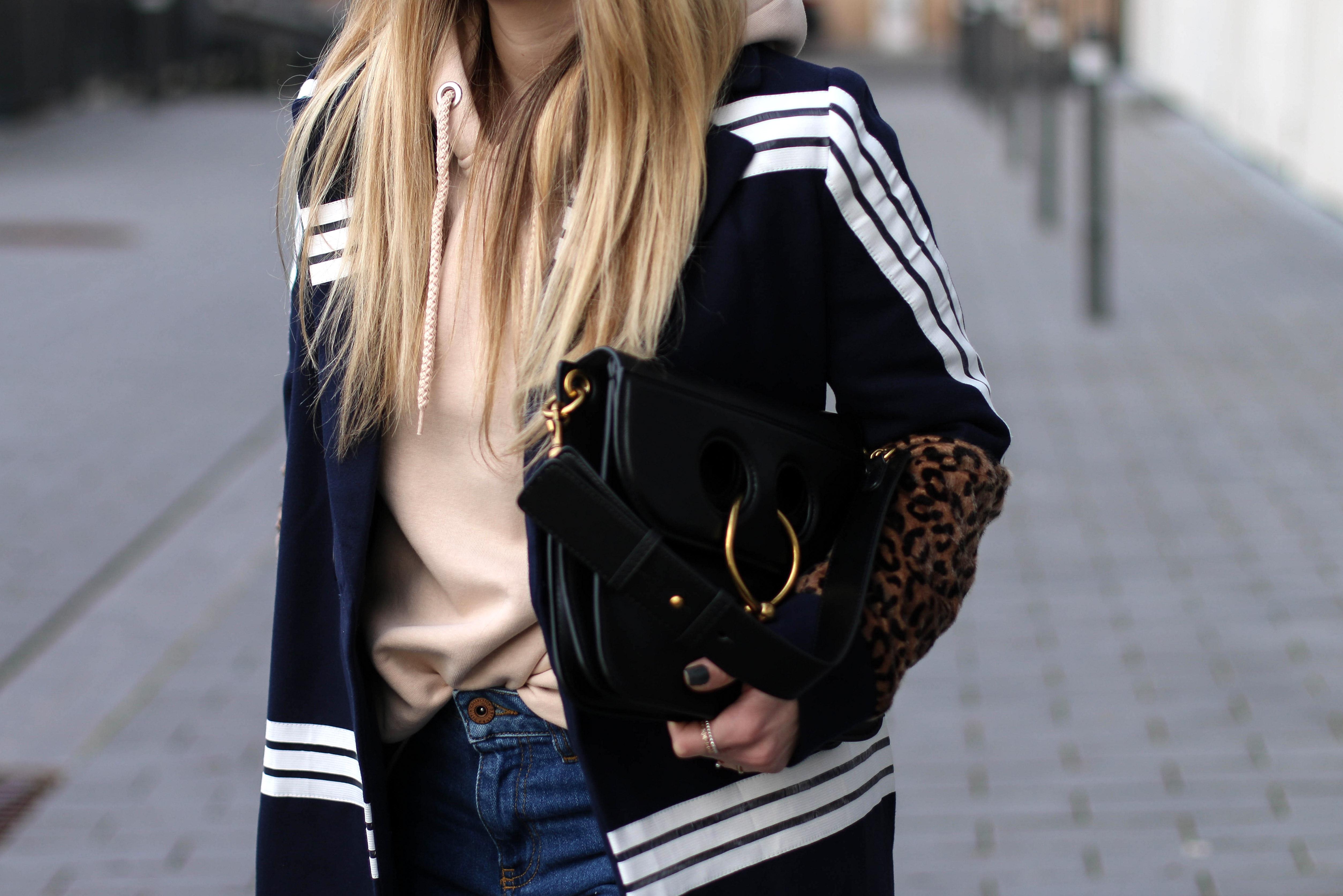 Maxi Coat Streetstyle Pink Hoodie JW Anderson Bag