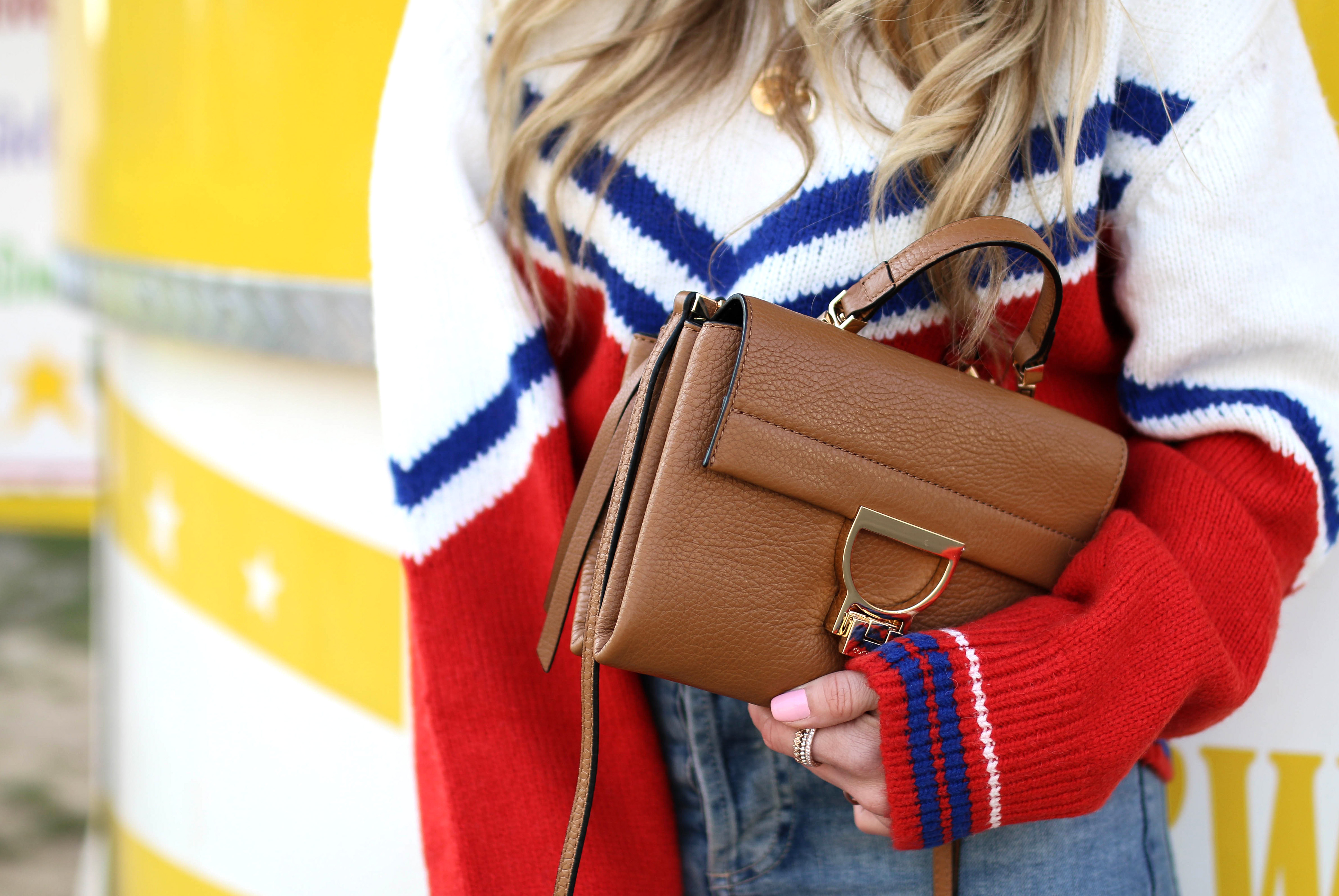 & other stories retro sweater coccinelle arlettis mini bag
