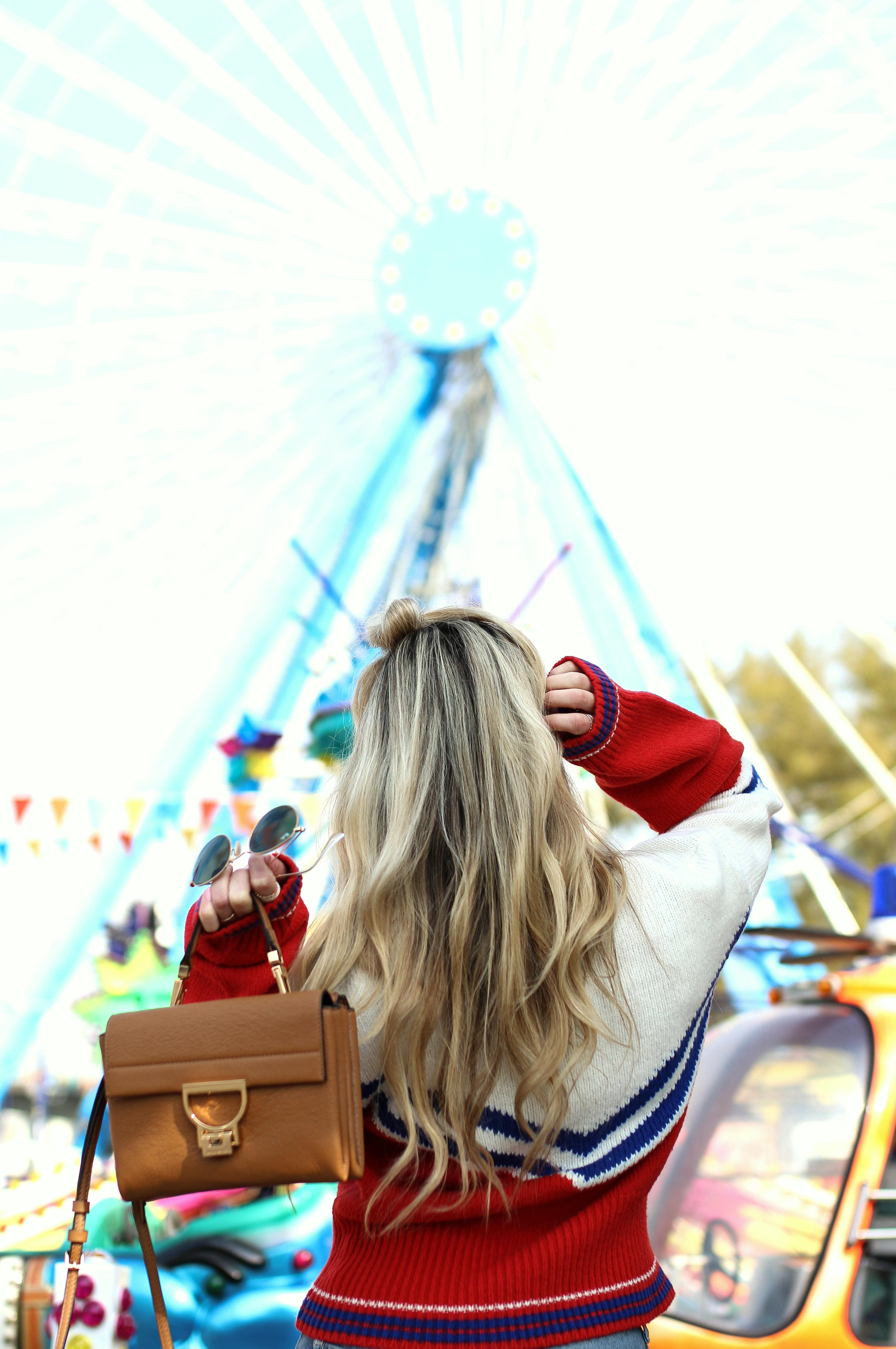 retro sweater & other stories kirmes köln funfair cologne