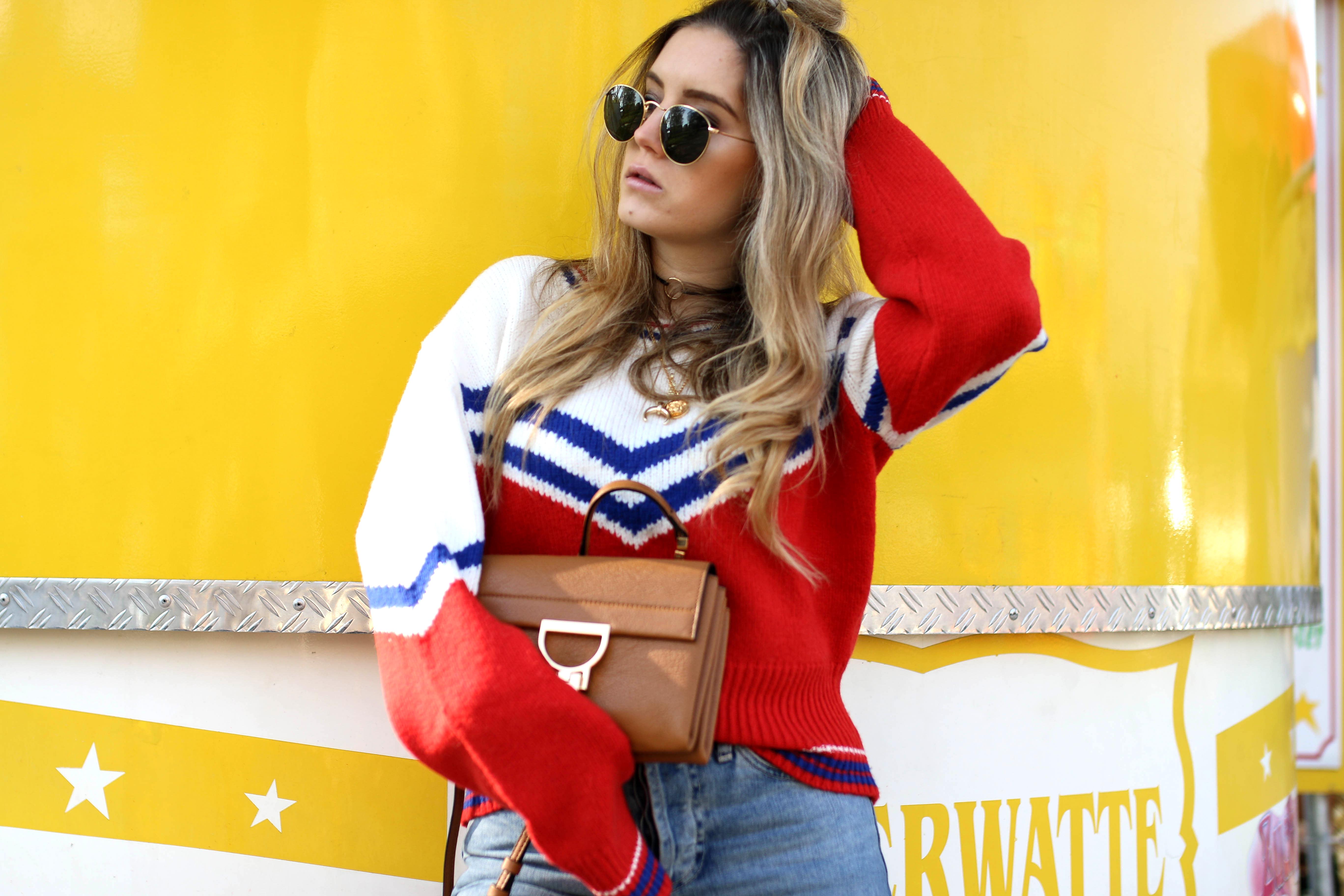 retro sweater & other stories #storiesla fashion blog german blog cologne kirmes deutz shooting