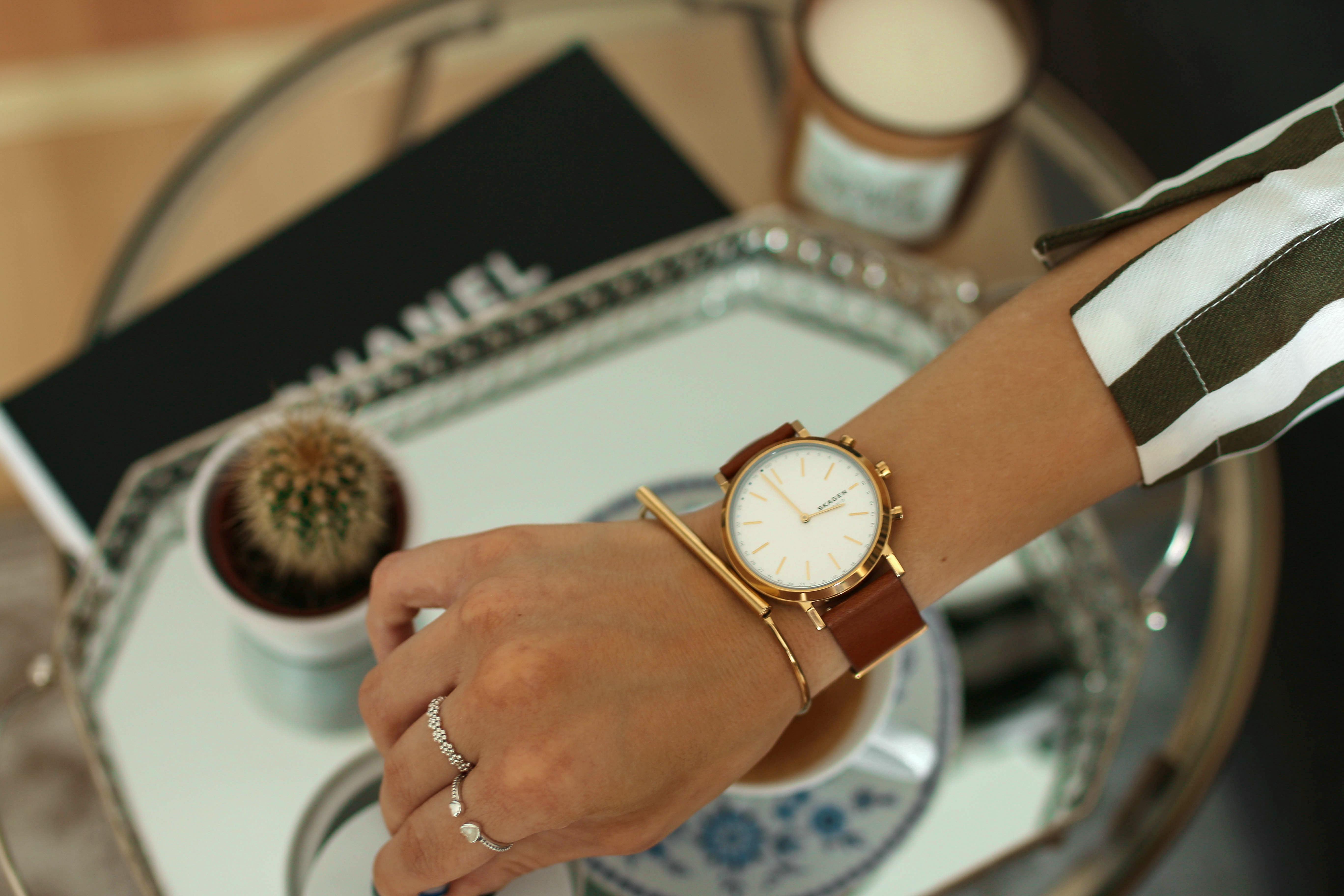 skagen hybrid smartwatch cognac styleblog fashionblog review skagen connected
