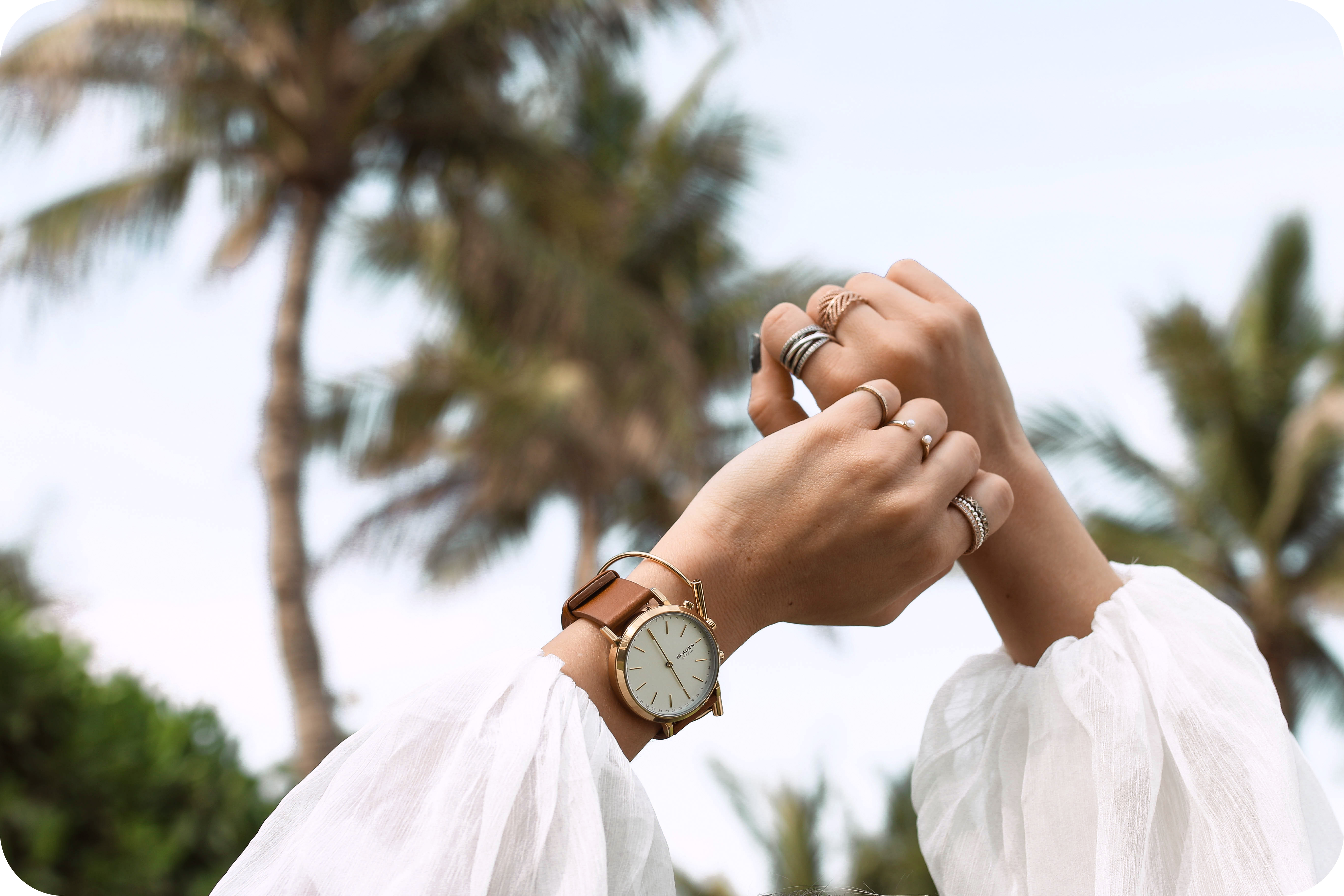 skagen hybrid smartwatch palm trees dubai skagen connected review
