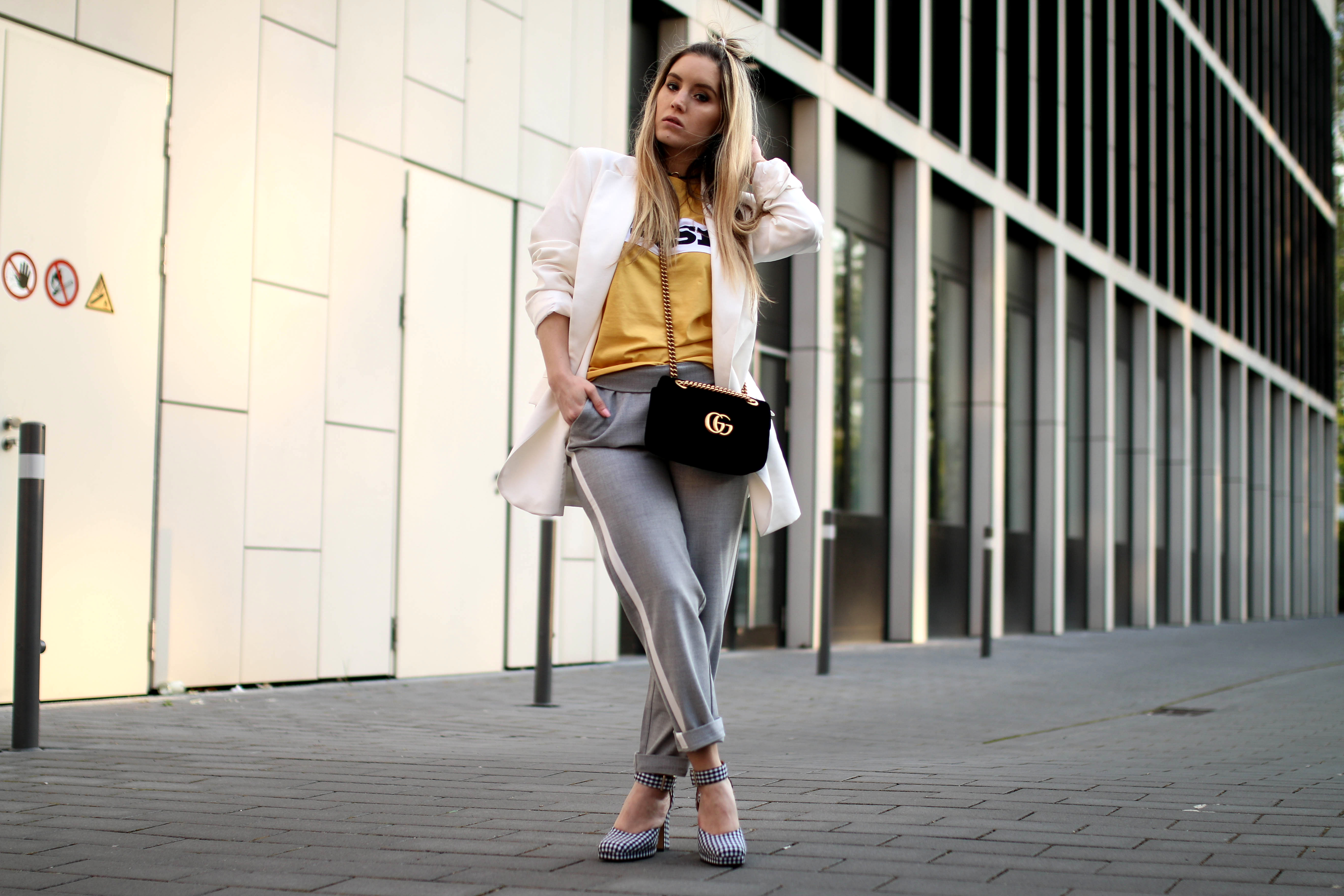 track pants trend gucci marmont gucci bag fashion blog