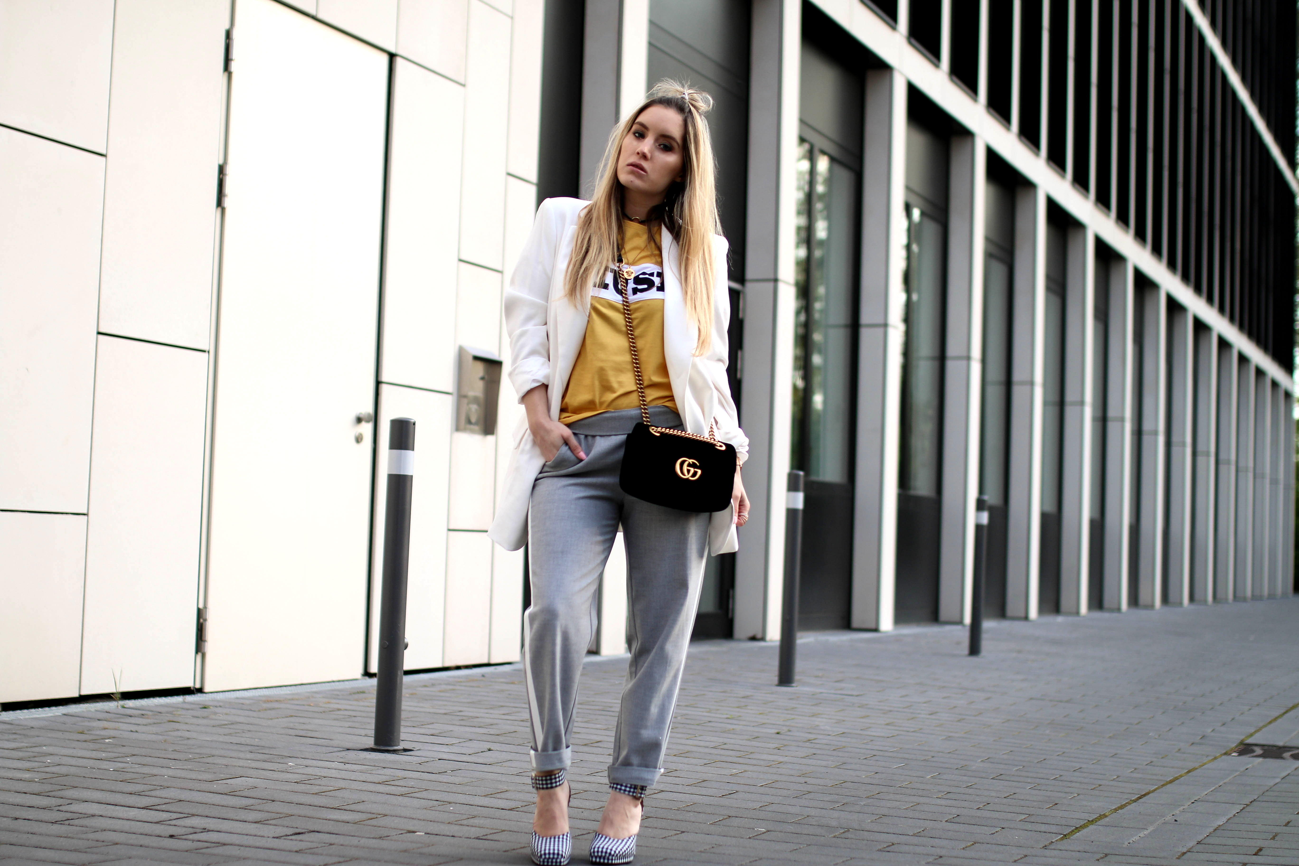 track pants trend streetstyle fashion blog colourful rebel shirt