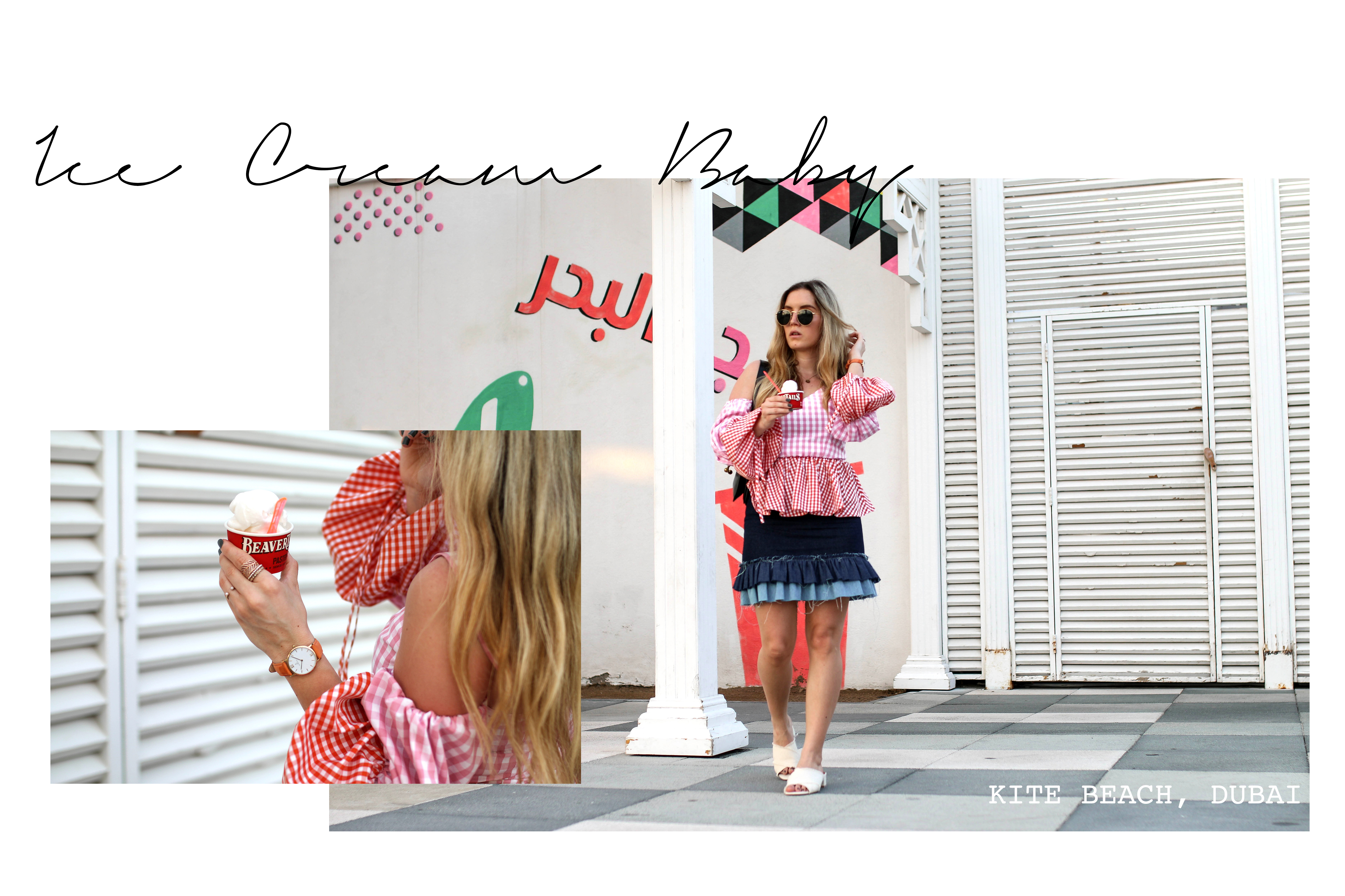 vichy check print trend asos vichy check blouse asseenonme 90s trend fashion blog dubai kite beach