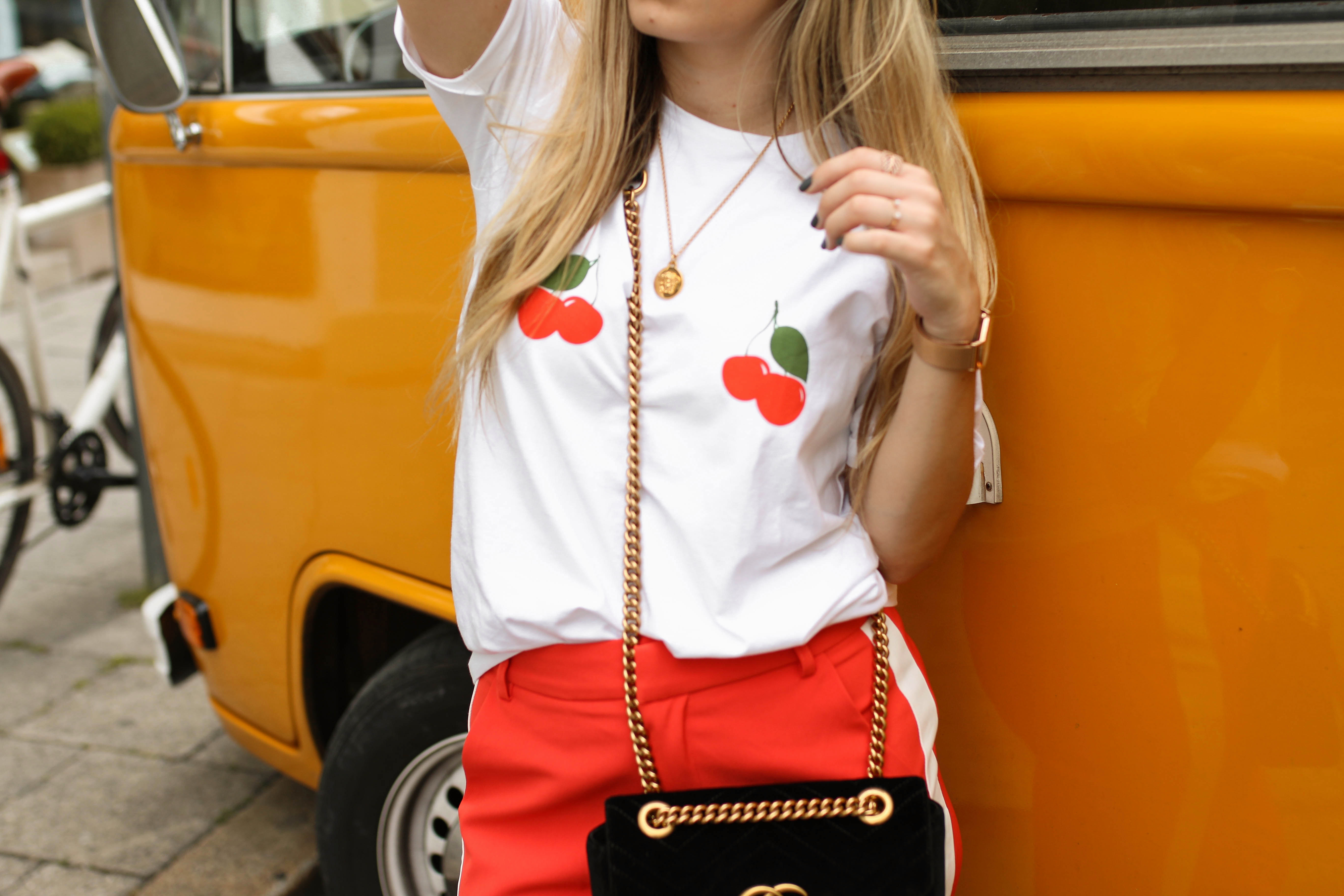 loavies cherry shirt blogger style fashion blog gucci marmont velvet streetstyle