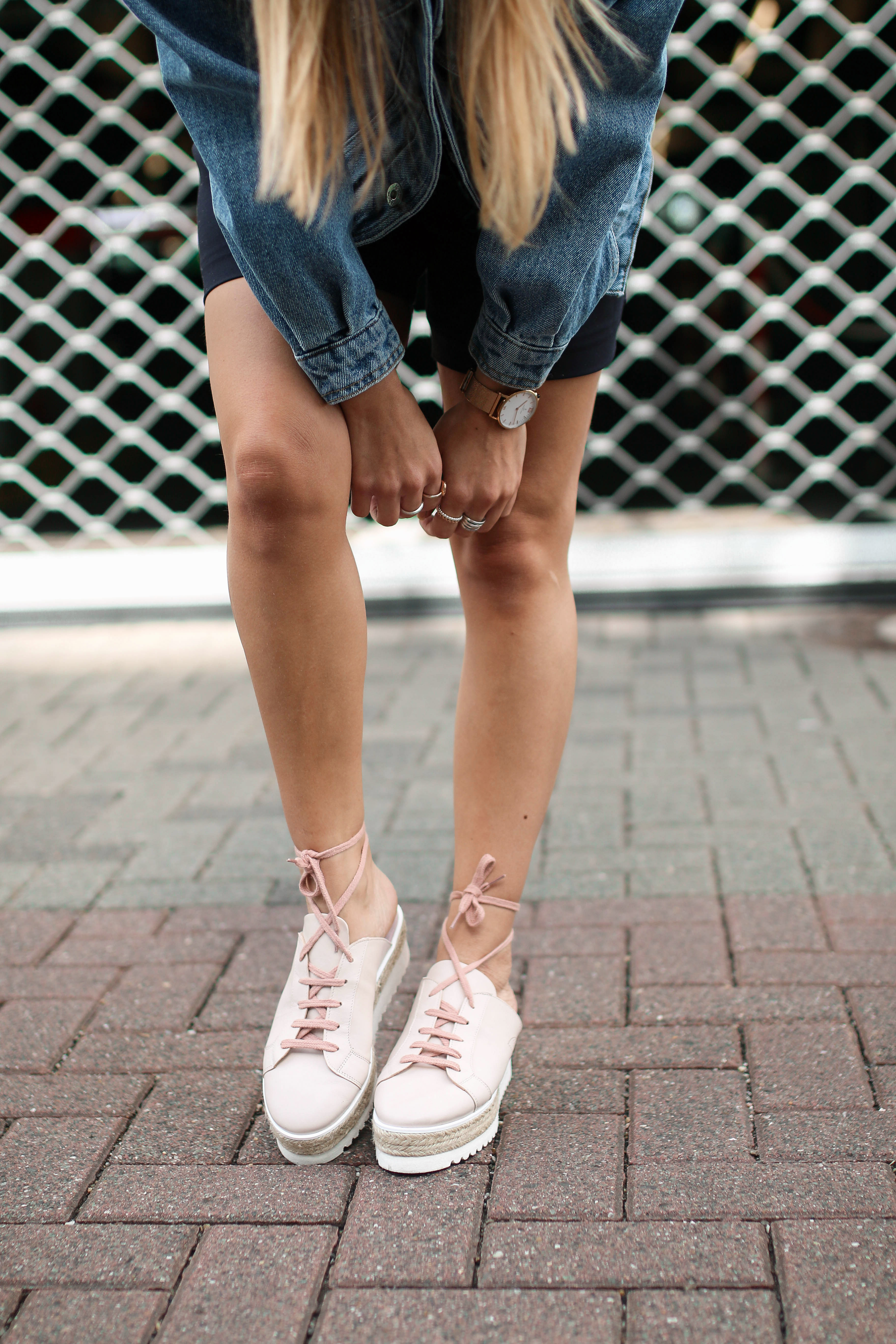 denim streetstyle minty square platform shoes sneakers fashion blog