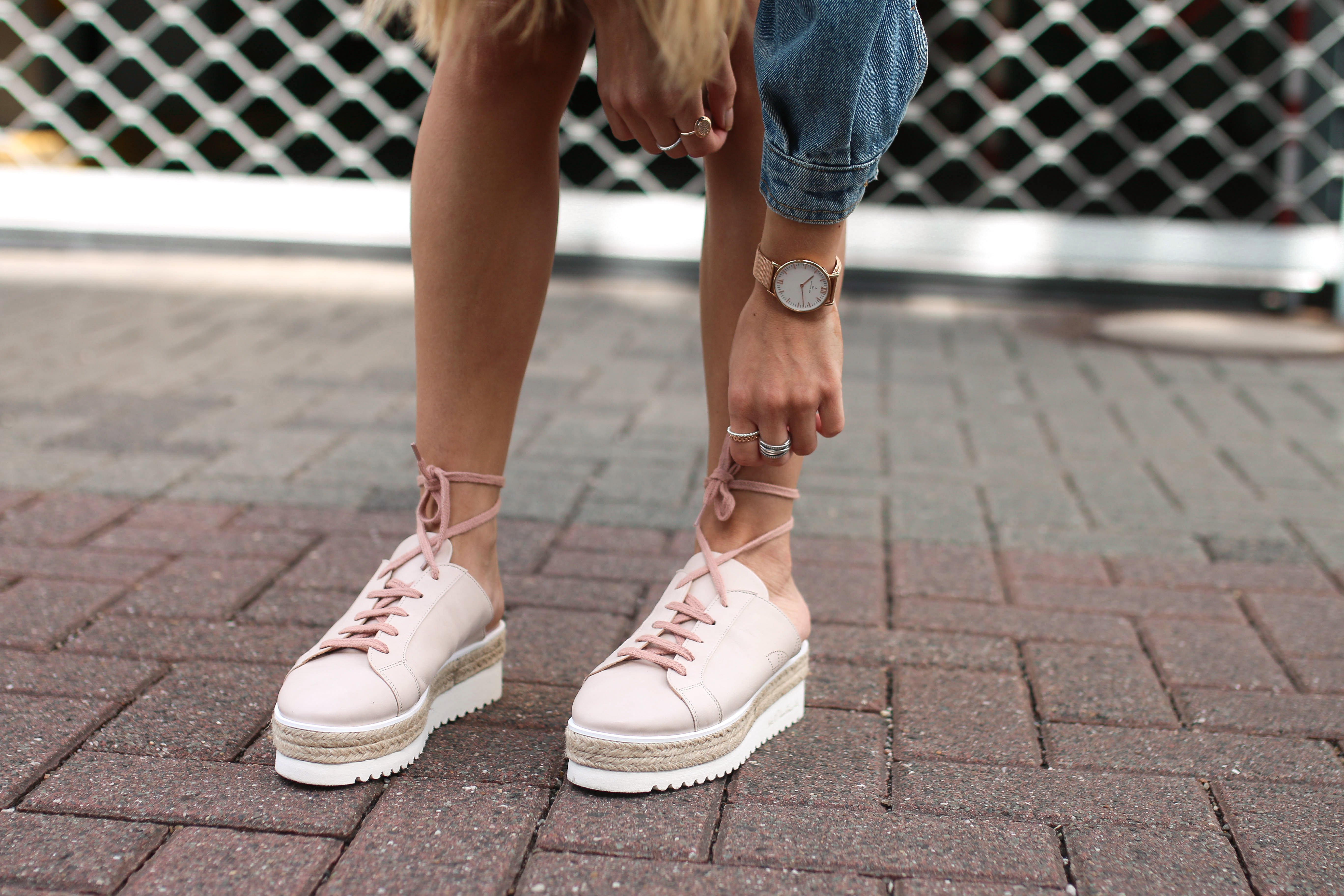 denim streetstyle minty square platform sneakers