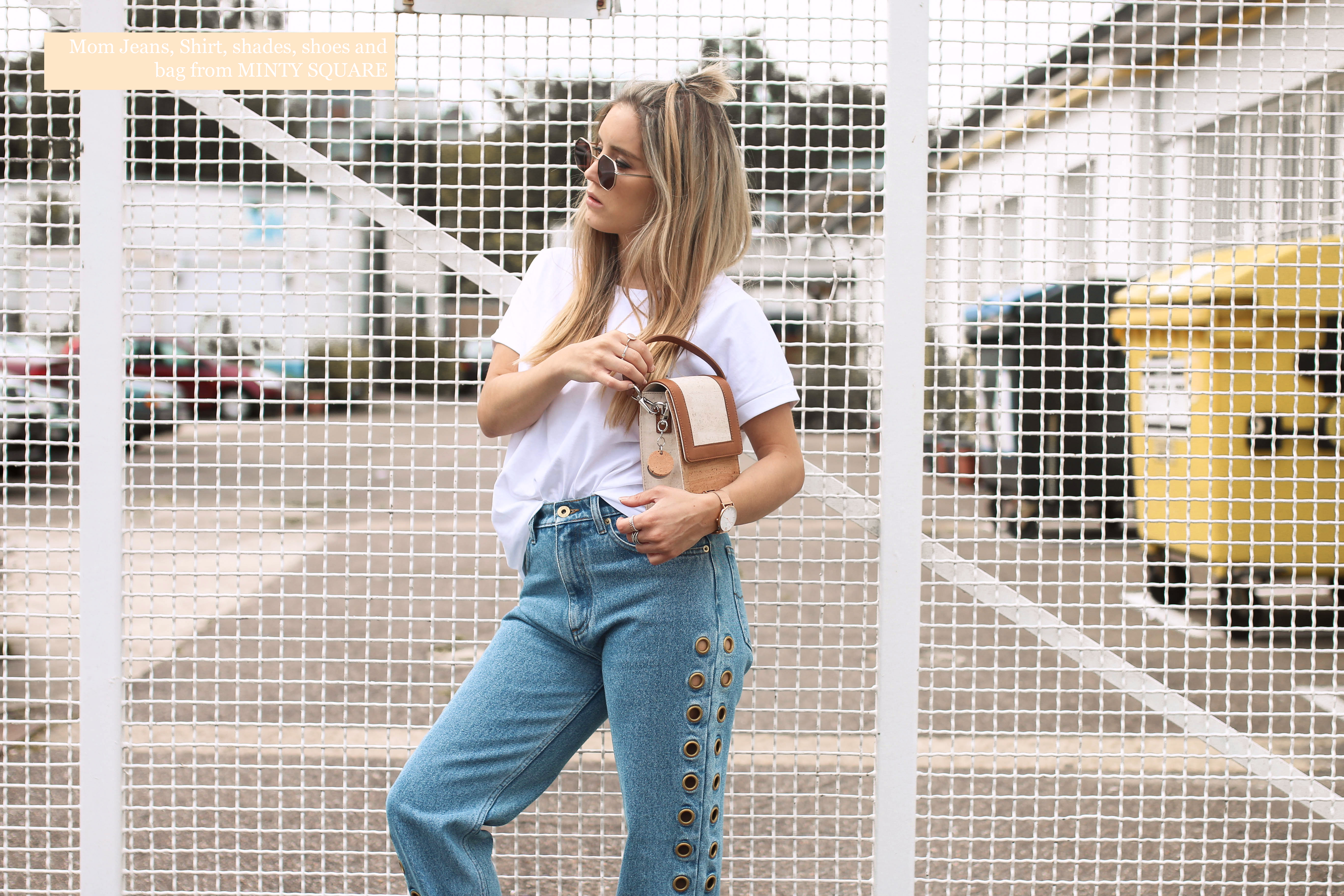 minty square denim streetstyle fashiontwinstinct